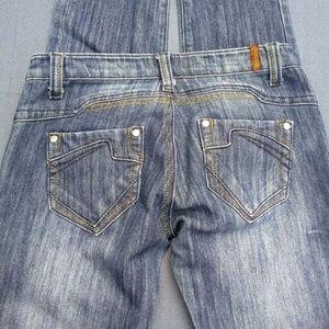 women's Sky jeans size 5/6 dark denim rhinestones